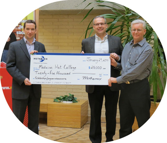 Medicine Hat College donation